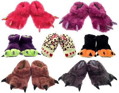 Girls Boys Childrens Novelty Xmas Kids Slippers Boots Claw Monster Feet Size