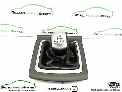 Ford Focus St Mk2 Black Leather Manual Gear Stick Gaiter Gear Knob + Trim 05-11