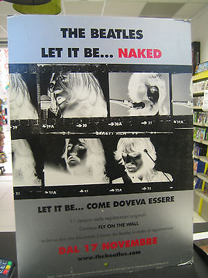 THE BEATLES LET IT BE NAKED cartonato pubblicitario promozionale  68 x 48 cm