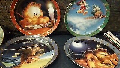 Garfield Dear Dairy  Collectable Plates Set  of 9