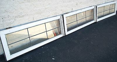 Transom Leaded Windows Antique Vintage Old Large Art Deco English Glass Crafts