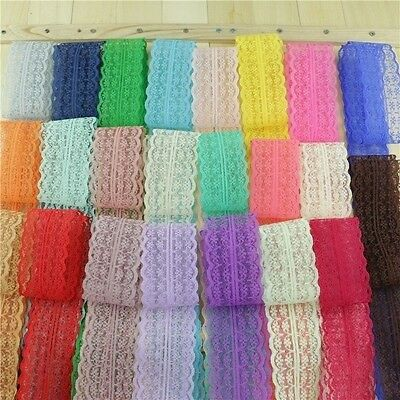 10yards/ lot bilateral lace ribbon 45MM Width DIY decorative lace trim fabric we