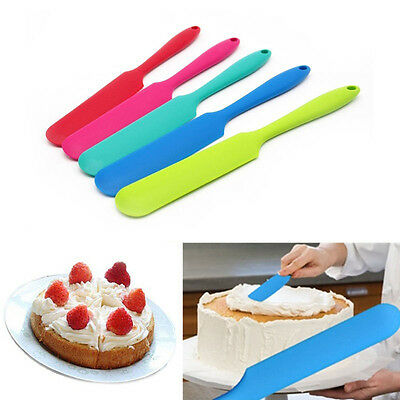 New Silicone Cake Cream Scraper Spatula Mixing Brush Butter Kitchen Baking Tool