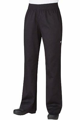 Chef Works Pw005 Women's Basic Baggy Pants, Large