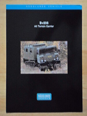 ALVIS HAGGLUNDS BV206 All Terrain Carrier c1998 Glossy Military Leaflet brochure