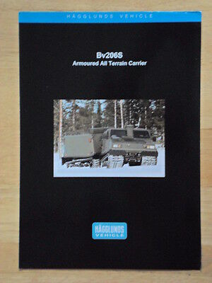 ALVIS HAGGLUNDS BV206S Armoured All Terrain Carrier '00 Glossy Military brochure
