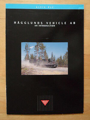ALVIS HAGGLUNDS c1998 Glossy Military Vehicles Corporate Sales brochure