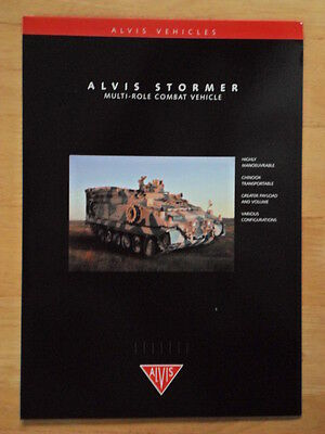 ALVIS STORMER Multi-Role Combat Vehicle c1998 Glossy Military Sales brochure