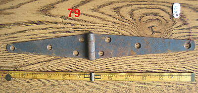 Old Antique Vintage 1 Pc Cast Iron Barn Farm Strap Hinge Made In Usa # 79