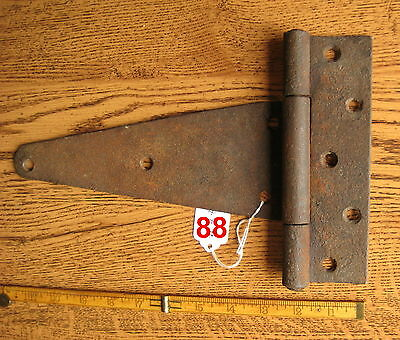 Old Antique Vintage 1 Pc Cast Iron Barn Farm Strap Hinge Made In Usa # 88