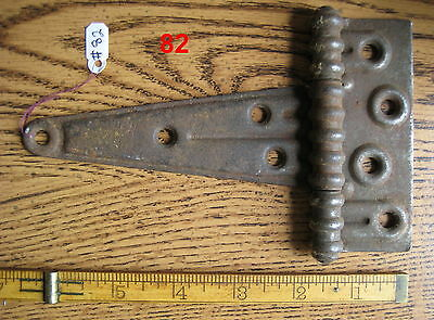 Old Antique Vintage 1 Pc Steel Barn Farm Strap Hinge Made In Usa # 82