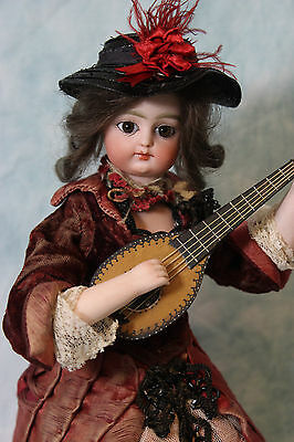 """12"""" Atomaton Block Letter F 1 G Doll Works well is dressed Strumming a Mandolin"""