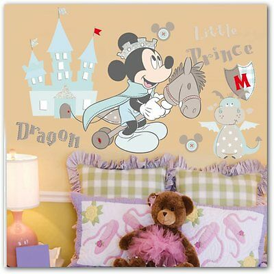 Mickey Mouse Wall Sticker  Decals Nursery Baby Kids Room Decor Wall Stickers