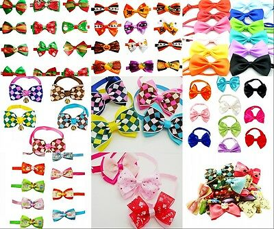 Wholesale Lot Cute Pet Dog Neckties Dog Bow Tie Pet Grooming Supplies Mix Styles