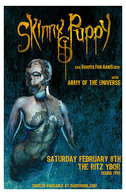 Skinny Puppy Shapes For Arms 2014 tour 11x17 Concert Poster Army Of The Universe
