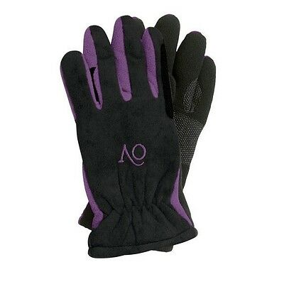 Ovation Polar Fleece Suede Winter Riding Gloves - Childs - Diff Sizes & Colors