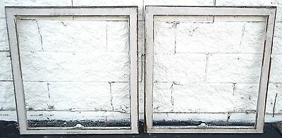 Transom Windows Frames Pair Antique Vintage Old Art Deco Leaded Crafts Repurpose