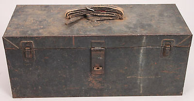 "Vintage SNAP-ON Hand Carry Metal TOOL BOX - Black - 9"" x 21"""