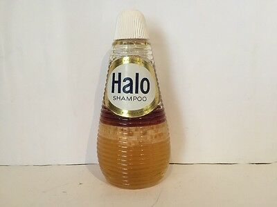 Halo Vintage Glass Shampoo Bottle With Contents