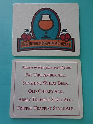 Rare Coaster ~*~ NEW BELGIUM Brewing Co Old Cherry Ale ~  Real Beer ~*~ Postcard