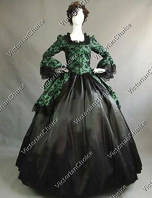 Victorian Steampunk Witch Fairytale Gown Fancy Dress Halloween Costume N 143