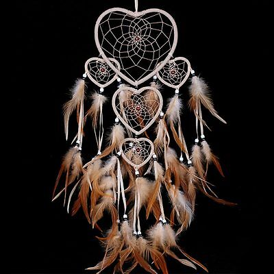 Dream Catcher With Feather Car or Wall Hanging Ornament Decoration Handmade US