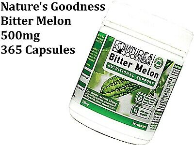 Nature's Goodness  Bitter Melon 500mg 365 Capsules