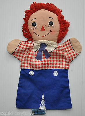 vintage RAGGEDY ANDY Knickerbocker PUPPET 1960s