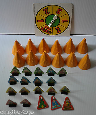 TWELVE TEEPEES Memory Game REPLACEMENT PARTS & PIECES 1984 Milton Bradley