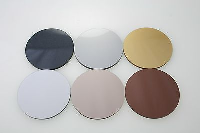 Acrylic Circle Rose Gold, Gold, Silver, Bronze, Space Grey, Copper, Black Discs
