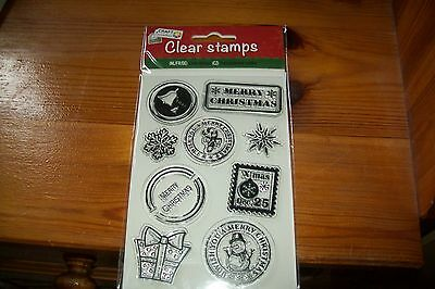 1 Clear Stamp Christmas (D)   14X8 Cm  New
