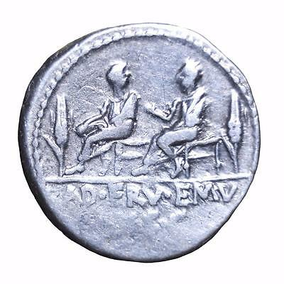 Roman Republic: Issue relating to the corn supply minted 100 BC.