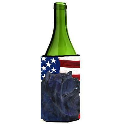 Carolines Treasures Usa American Flag With Chow Chow Wine Bottle Hugger 24 oz.