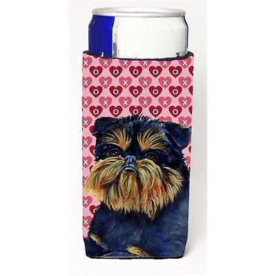 Brussels Griffon Hearts Love And Valentines Day Portrait Michelob Ultra bottl...