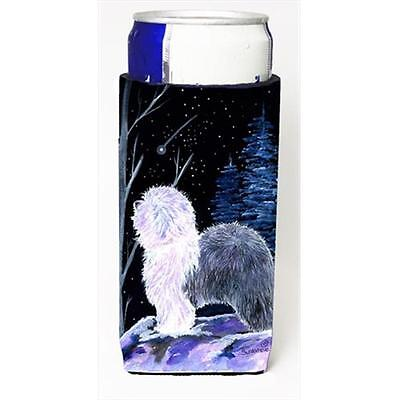 Starry Night Old English Sheepdog Michelob Ultra bottle sleeves For Slim Cans