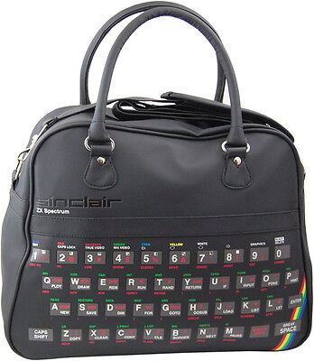 New Retro / Vintage ZX Spectrum Computer Keyboard Black Overnight / Hold All Bag