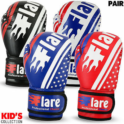 Kids Boxing Gloves Punch Bag Sparring MMA Training Mitts Unisex Size 4oz - 6oz