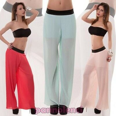 Women's trousers large pleated palace veiled light new CC-857
