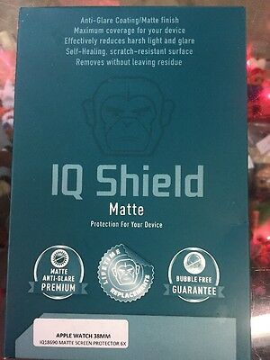 Apple Watch 38mm Screen Protector IQ Shield Matte(6-Pack) Full Coverage No Glare