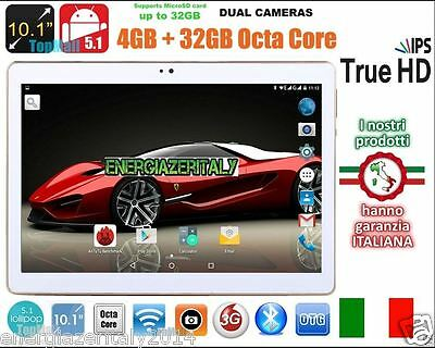 TABLET 10.1 POLLICI 3G OCTA CORE 8x2.0GHz 4GB RAM 32GB ROM ANDROID  5.1 2 SIM