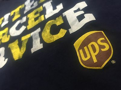 UPS United Parcel Service Navy T-Shirt Mens Size 2XL Package Delivery Truck USPS