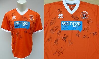 2013-14 Blackpool Home Shirt Signed by 18 (8988)