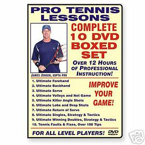 New Tennis Lesson by James Jensen,10 dvd  Free Shipping