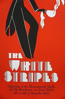 The White Stripes - 2005 Rob Jones poster London Hammersmith Apollo