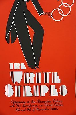 The White Stripes - 2005 Rob Jones poster London Alexandra Palace