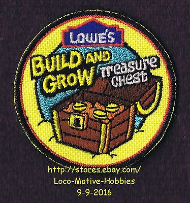 LMH PATCH Badge  2009 TREASURE CHEST Pirates Gold LOWES Build Grow Kids Clinic