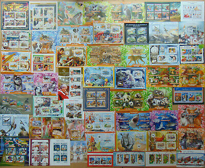 200 all different beautiful MINI & SOUV. SHEETS Composition Lot VERY NEW ARRIVAL