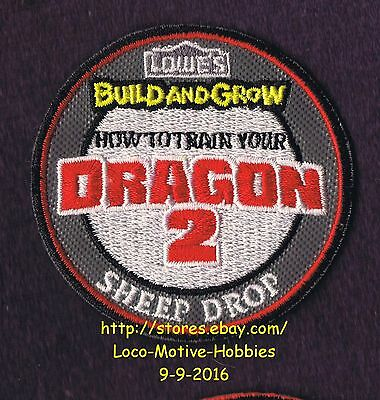 LMH PATCH Badge 2014 DRAGON 2 SHEEP DROP  How Train LOWES Build Grow Kids Clinic