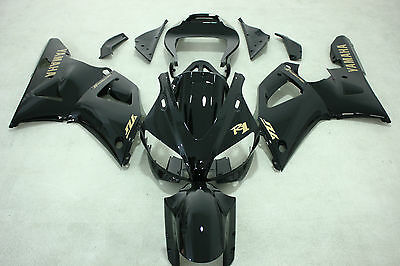 New ABS Gloss Black Injection Fairing Kit for Yamaha YZF-R1 1998-1999
