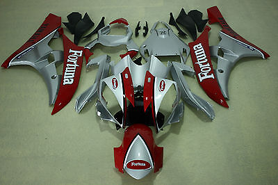 New ABS Fotuna Silver red Injection Fairing Kit for Yamaha YZF-R6 2006-2007